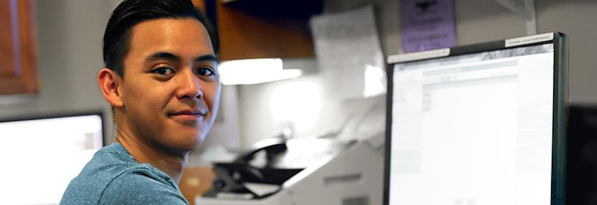 Male nurse preparing to earn the RAC-CT certification