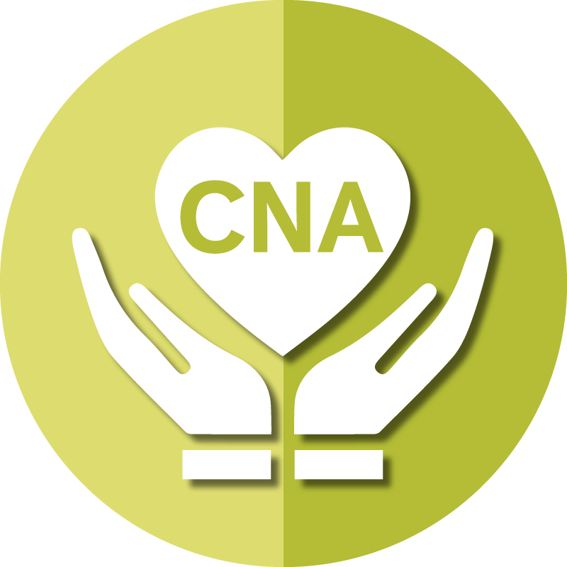 Icon for AAPACN resources for the CNA depicts caring hands and a heart.