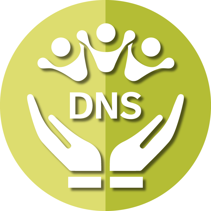 Icon for AAPACN resources for the DNS depicts caring hands and members of a team.