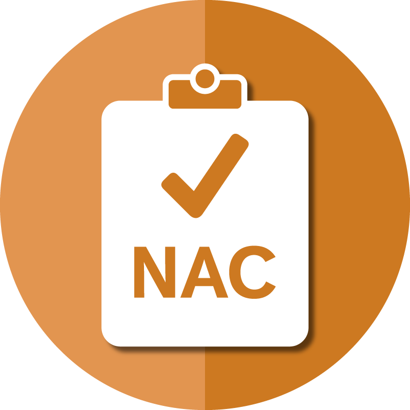 Icon for AAPACN resources for the NAC depicts a check mark on a clip board.